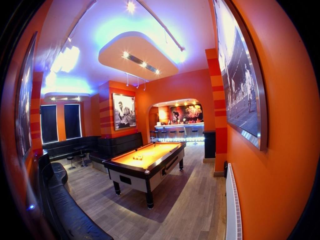A billiards table at The Escape