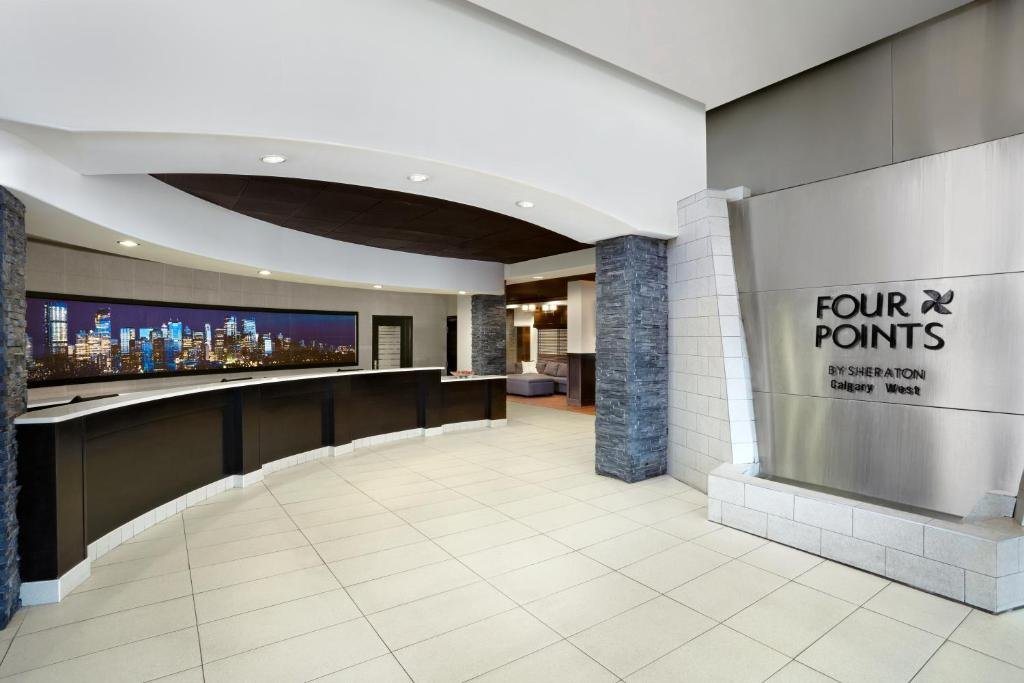 The lobby or reception area at Four Points by Sheraton Hotel & Suites Calgary West
