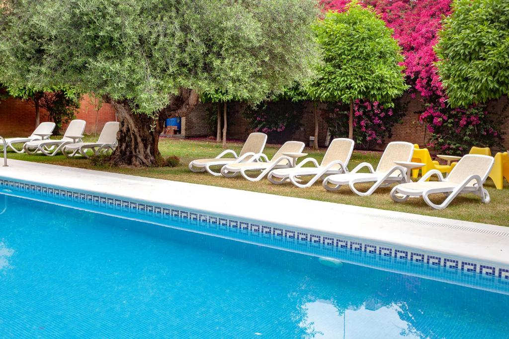 The swimming pool at or near AACR Hotel Monteolivos