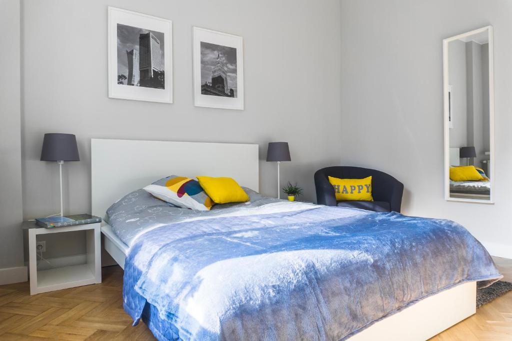 Łóżko lub łóżka w pokoju w obiekcie 3V Apartments