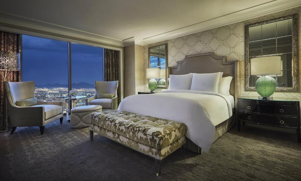A room at the Four Seasons Hotel Las Vegas.