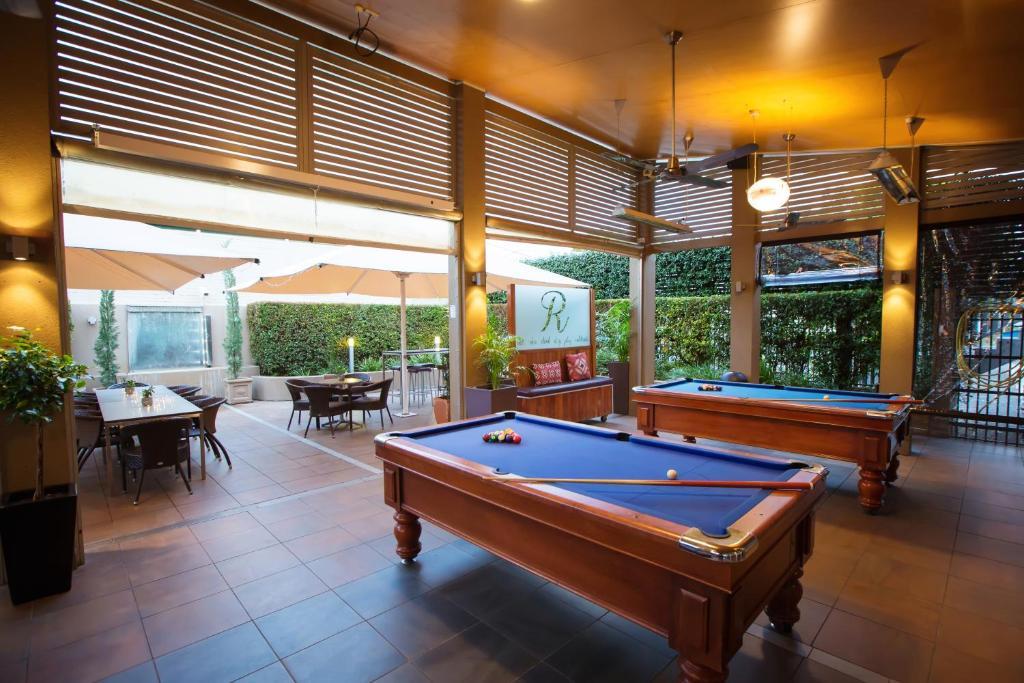 A billiards table at O'Shea's Royal Hotel