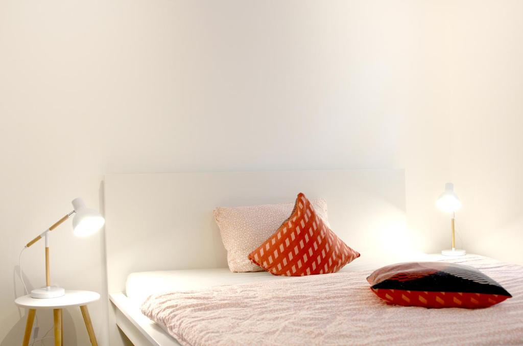A bed or beds in a room at Gemütlich und Zentral in Boppard