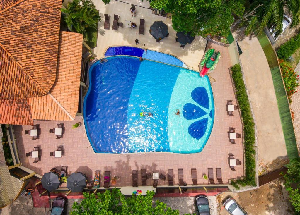 Uma vista da piscina em Floral Inn Family ou nos arredores