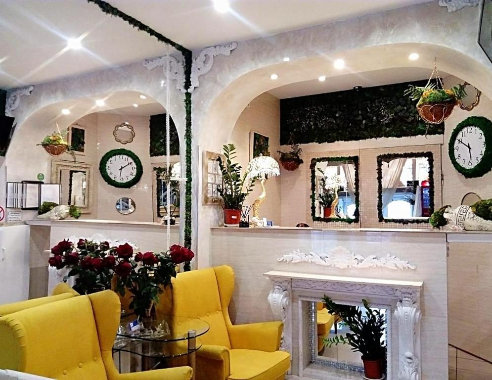 The lobby or reception area at CityComfort Hotel Kitay- Gorod