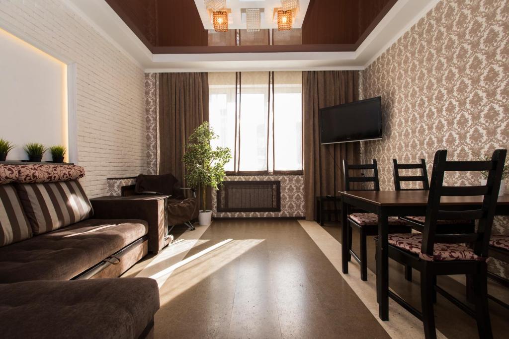 Гостиная зона в Apartment at Belinskogo 15