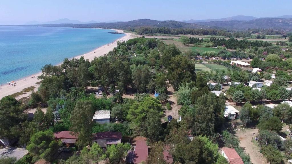 Vista aerea di Campeggio Villaggio Sos Flores