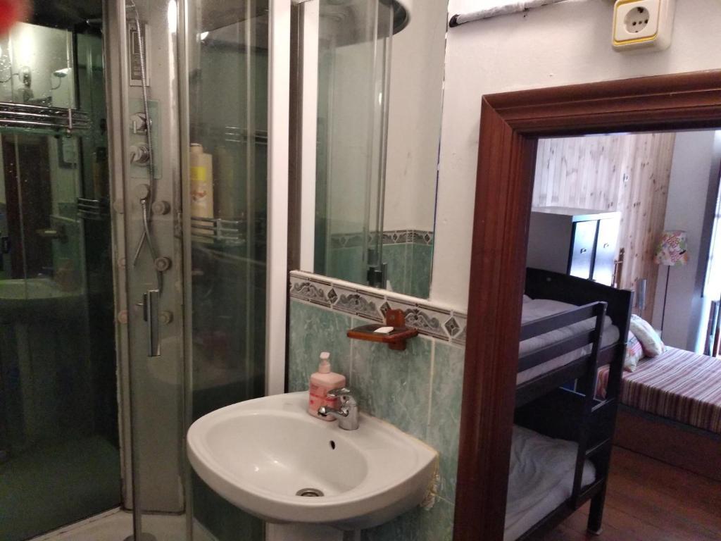 A bathroom at Pensión La Fruta