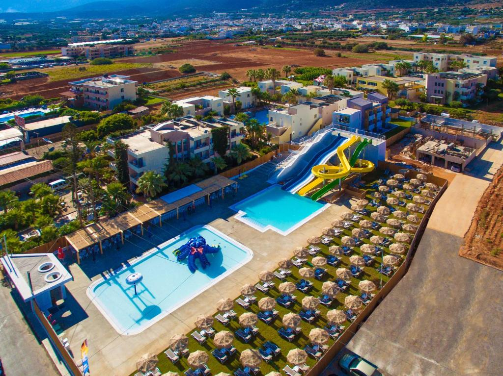 A view of the pool at Meropi Hotel & Apartments or nearby