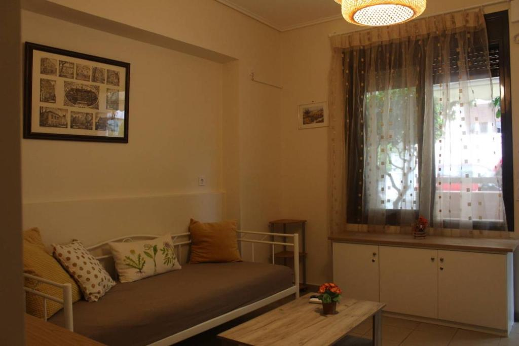 A seating area at Liza's ground floor apartment