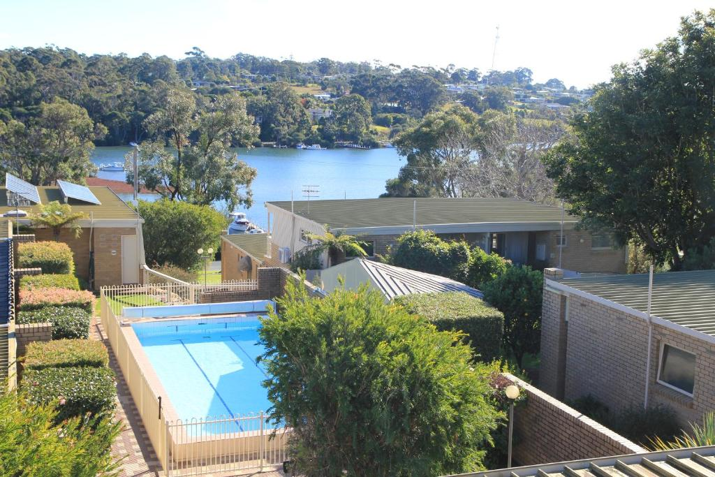 A view of the pool at Gowings of Mallacoota or nearby