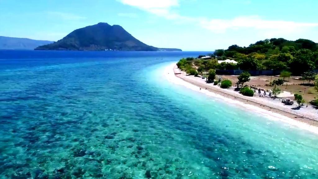 Pantai Sebanjar Bungalow dari pandangan mata burung