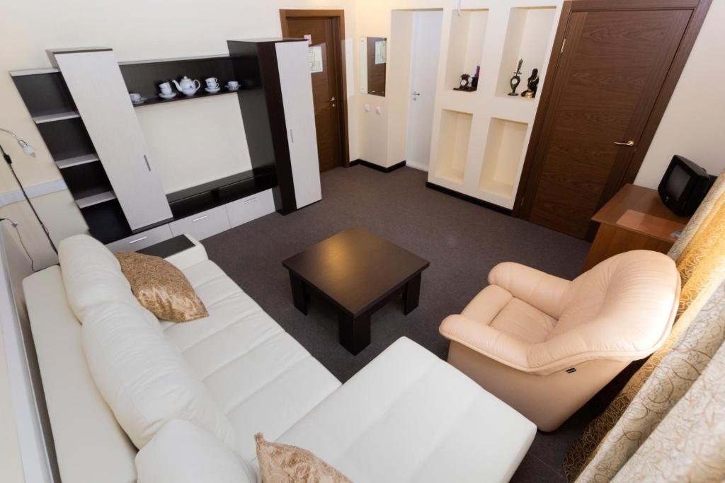 Гостиная зона в Отель Сталагмит