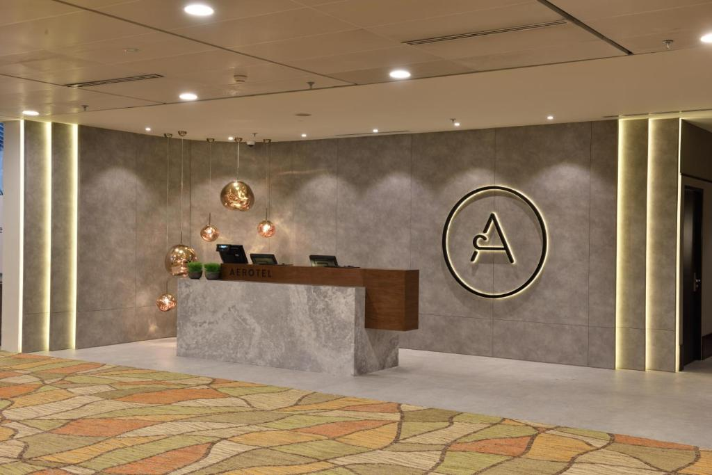 The lobby or reception area at Aerotel Transit Hotel, Terminal 1