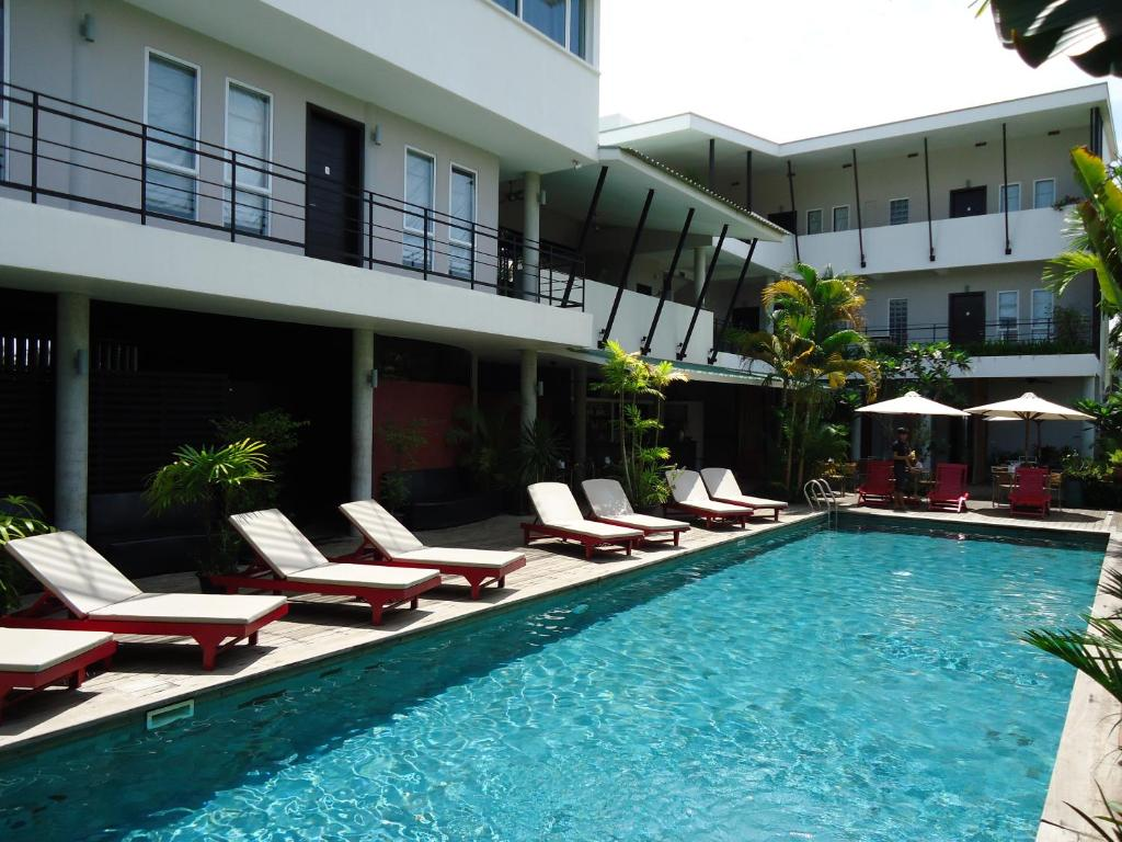 The swimming pool at or near MEN's Resort & Spa (Gay Hotel)