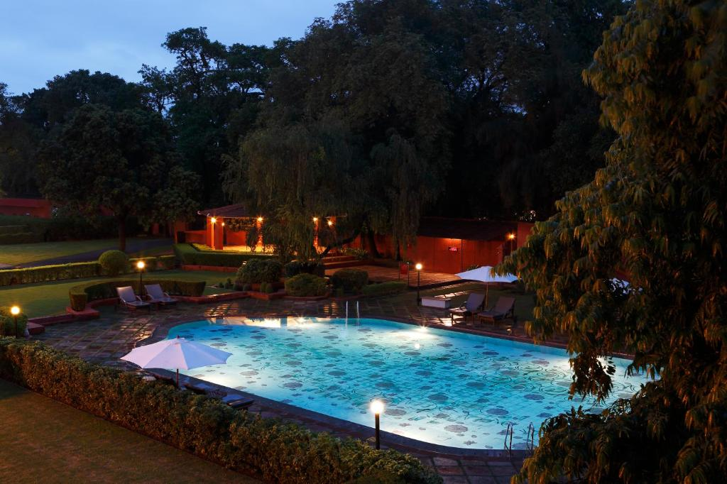 The swimming pool at or near Taj Ganges, Varanasi