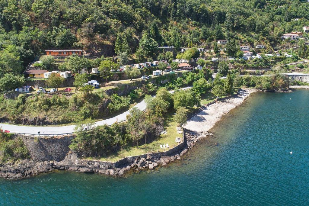 A bird's-eye view of Camping Bosco & Village Cannobio