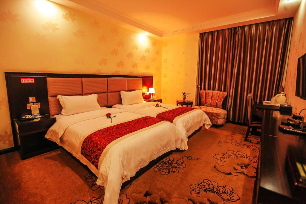 A room at the Chengdu Aviation Hotel.
