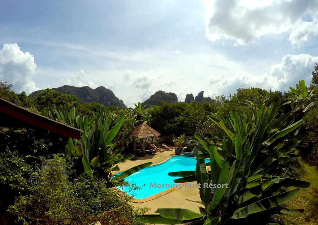 A view of the pool at Khao Sok Morning Mist Resort or nearby