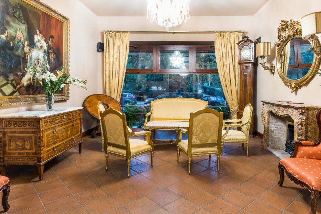 Posezení v ubytování La Fenice