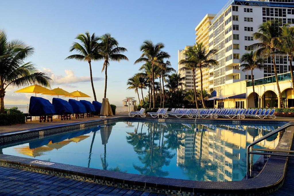 The swimming pool at or near Ocean Sky Hotel & Resort