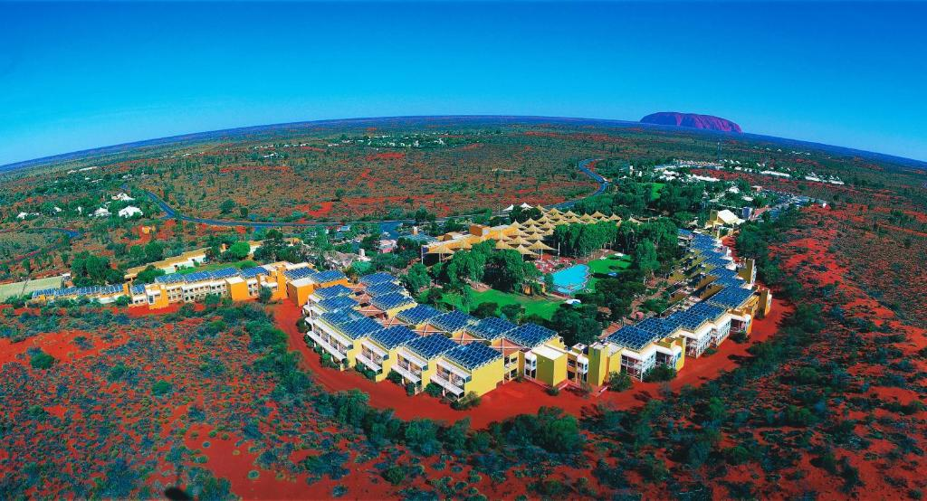 A bird's-eye view of Emu Walk Apartments