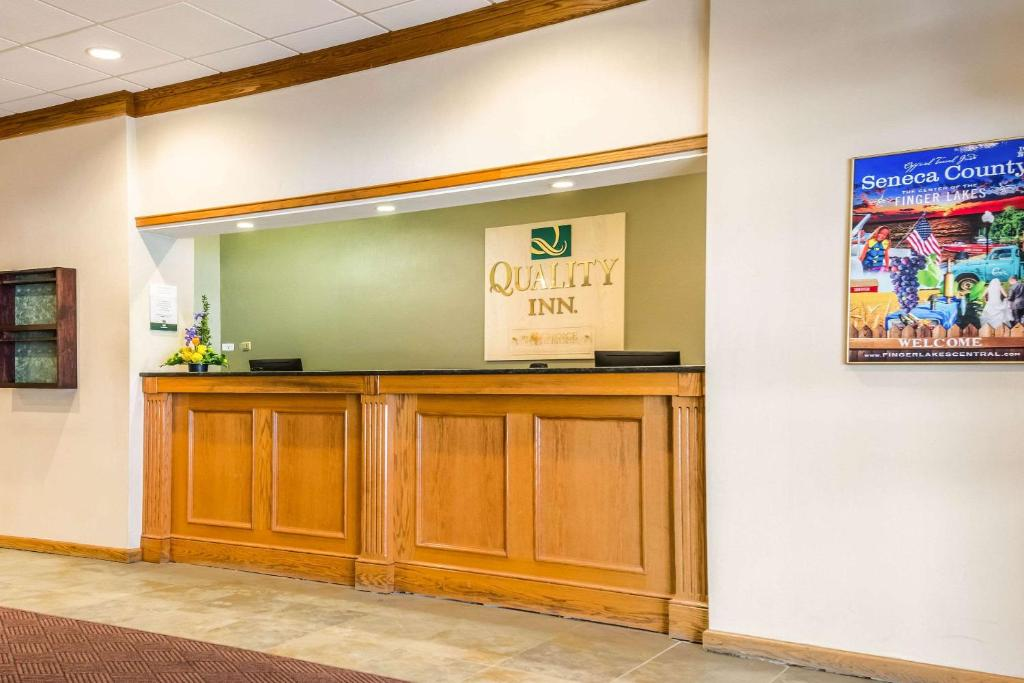 The lobby or reception area at Quality Inn near Finger Lakes and Seneca Falls