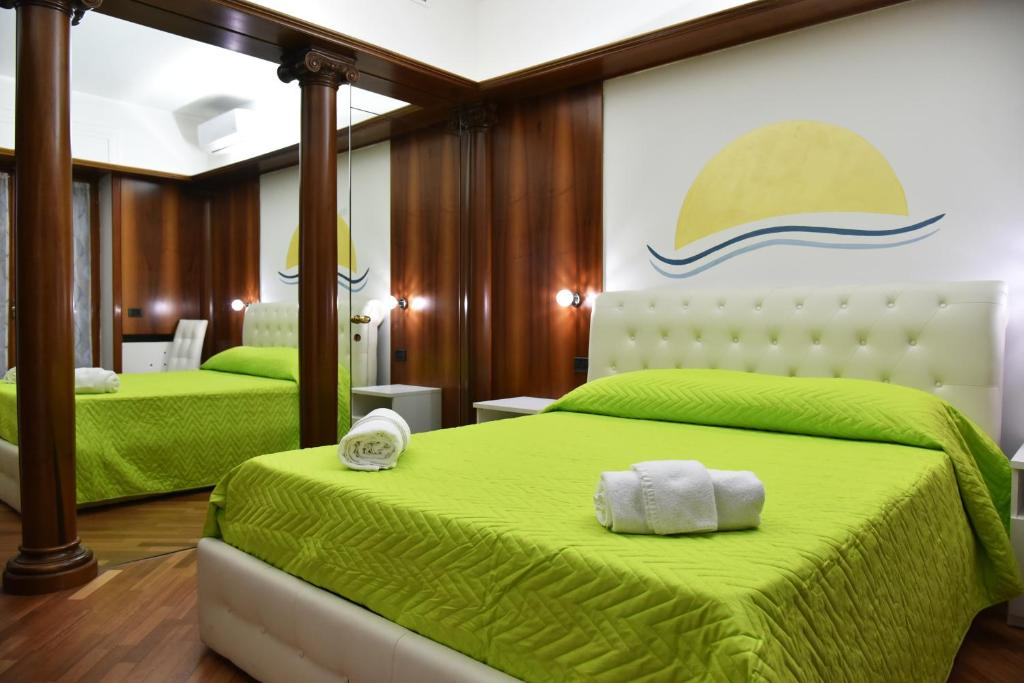 A bed or beds in a room at B&B Amalfi Coast Salerno