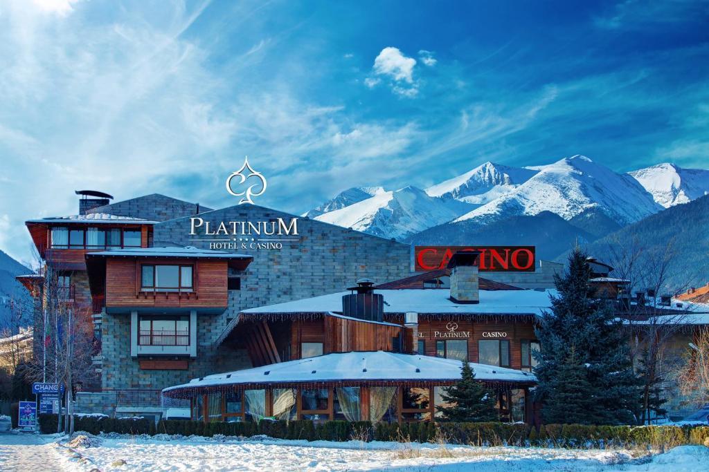 Platinum Hotel and Casino Bansko during the winter