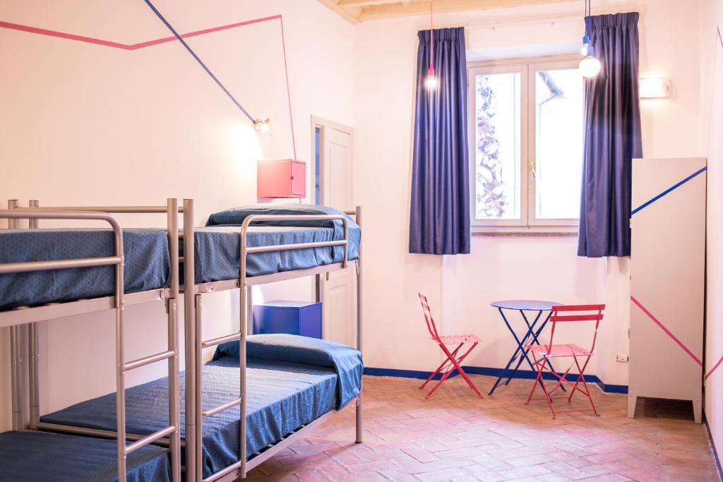 Un ou plusieurs lits superposés dans un hébergement de l'établissement Orsa Maggiore Hostel seulement pour Femmes