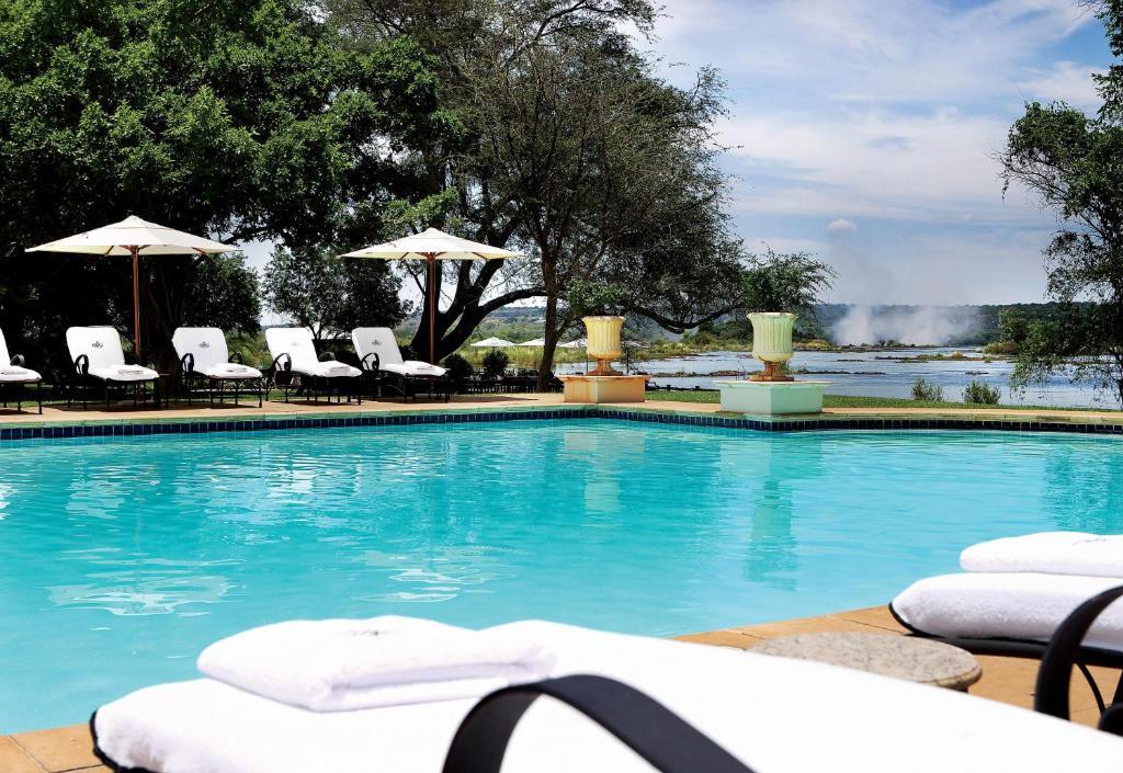 The swimming pool at or near Royal Livingstone Hotel by Anantara