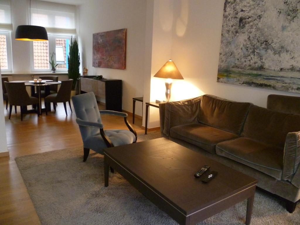 A seating area at Villa Greve - Deluxe Appartement