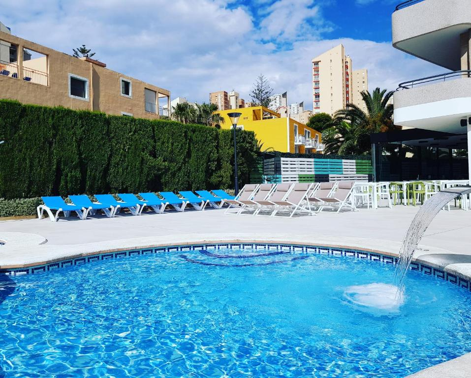 The swimming pool at or near Primavera Loix