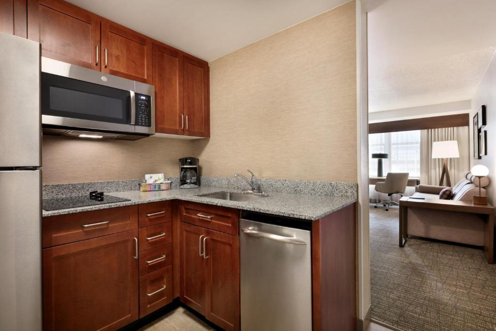 A room at the Residence Inn by Marriott Baltimore Downtown Inner Harbor.