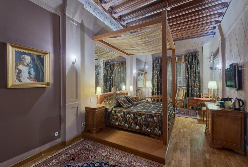 Кровать или кровати в номере Hotel Wentzl