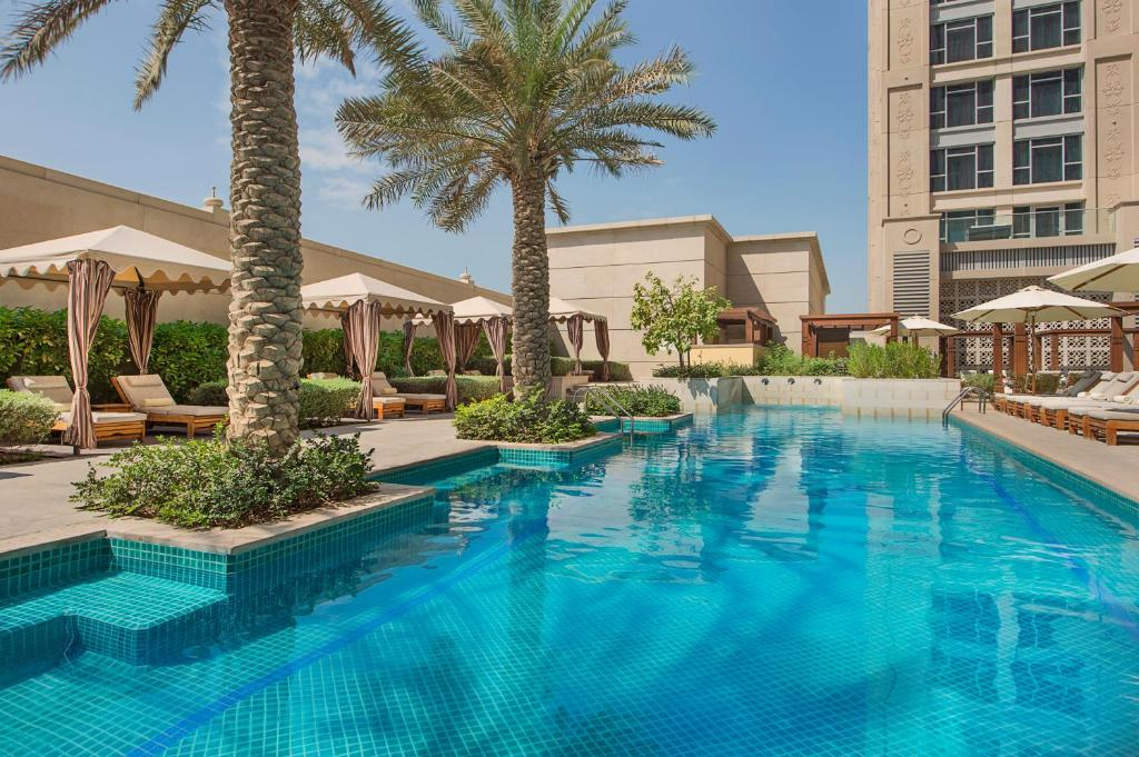 The swimming pool at or near Hilton Dubai Al Habtoor City