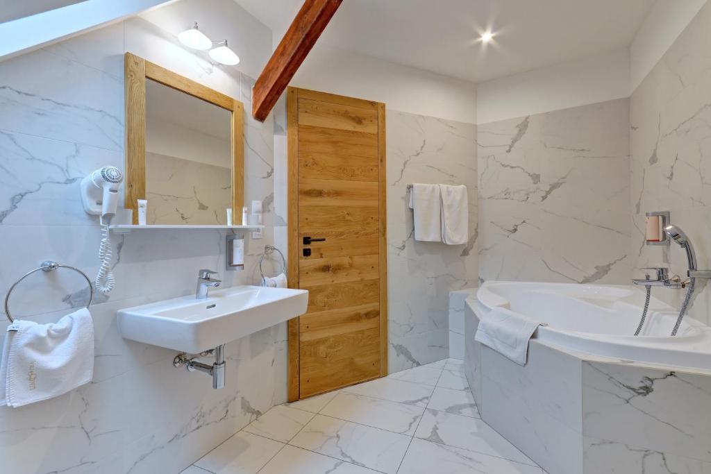 Koupelna v ubytování Villa Conti
