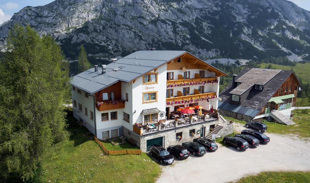 A bird's-eye view of Hotel Alpenrose