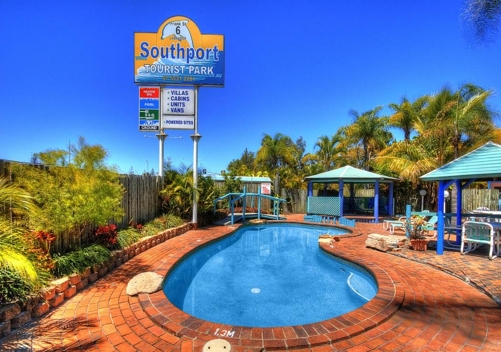 The swimming pool at or near Southport Tourist Park