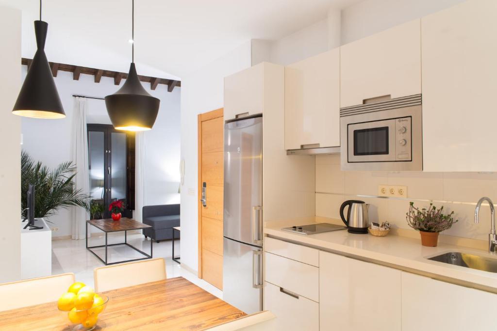 A kitchen or kitchenette at Suites Campo del Príncipe
