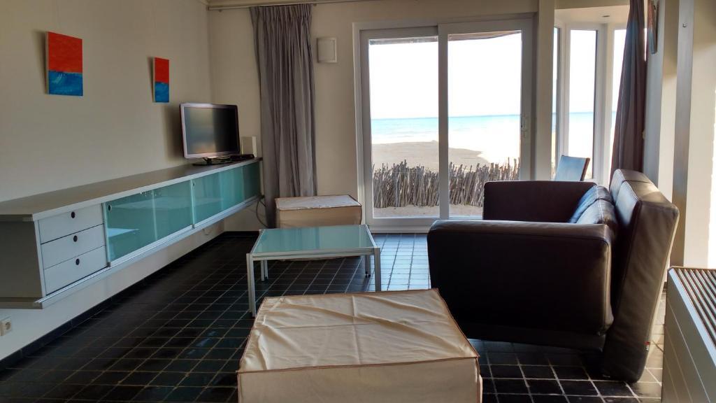 A seating area at Malibu Beach