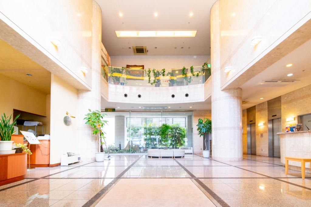 The lobby or reception area at Bright Park Hotel