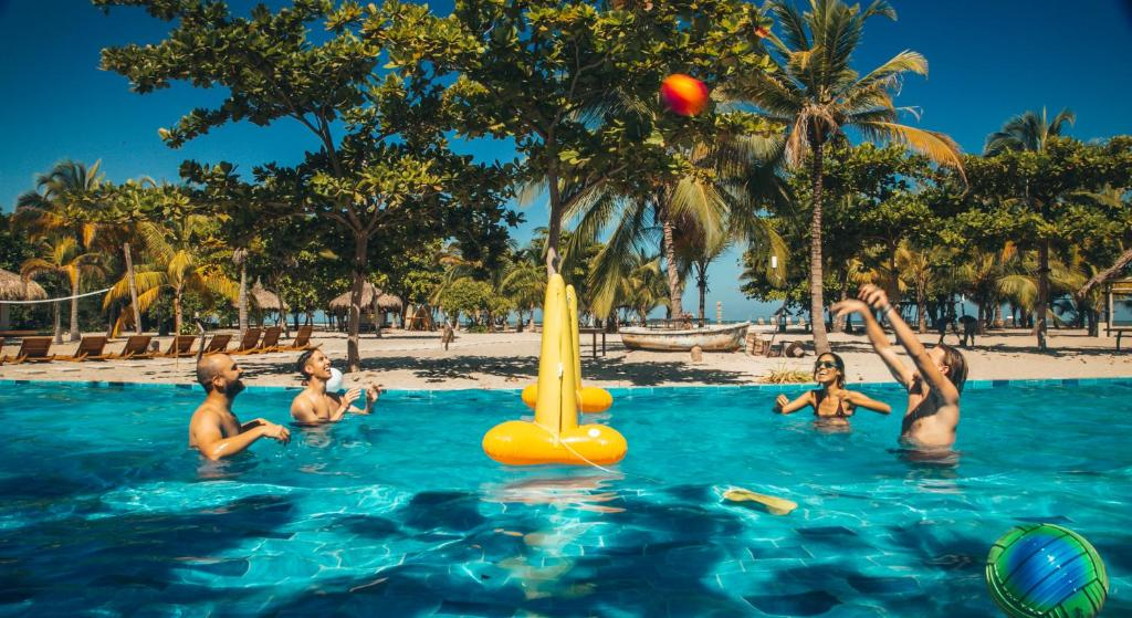 The swimming pool at or near Viajero Hostel Tayrona & Ecohabs