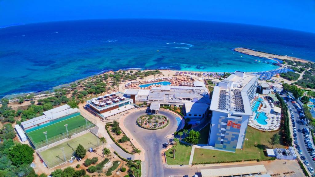 A bird's-eye view of Asterias Beach Hotel