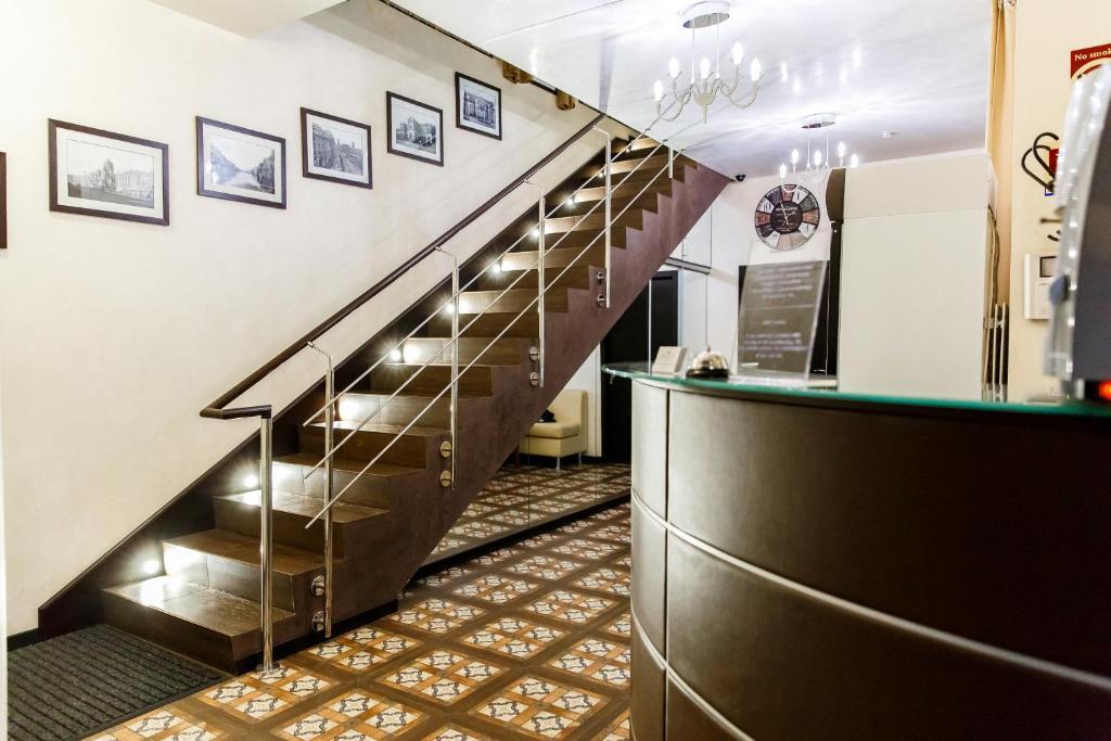 Vestibiulis arba registratūra apgyvendinimo įstaigoje Tsaritsynskiy Hotel