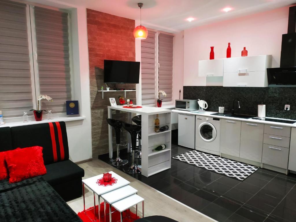 Kuchnia lub aneks kuchenny w obiekcie Apartament Alfa