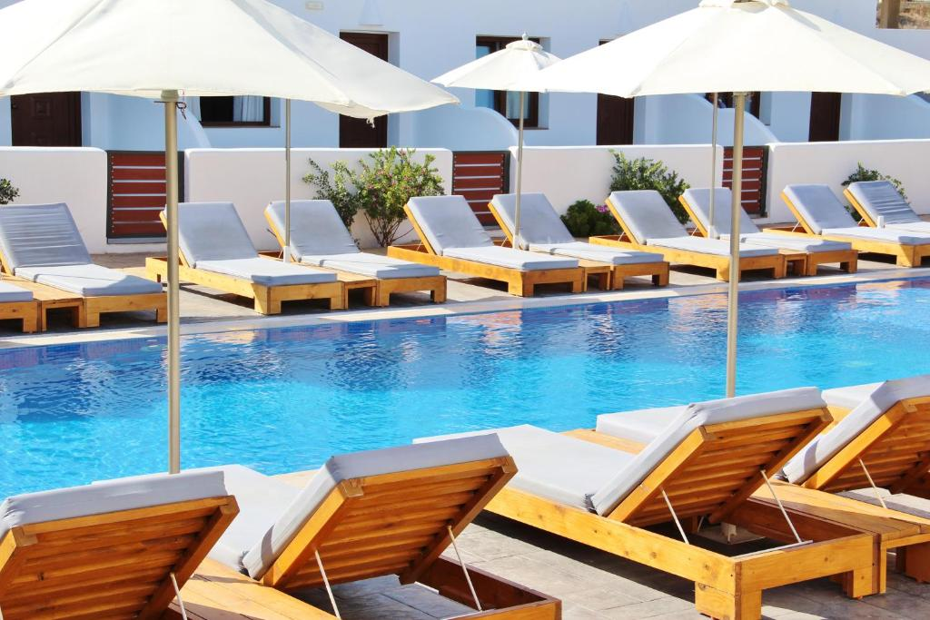 The swimming pool at or near Ifestos Villa