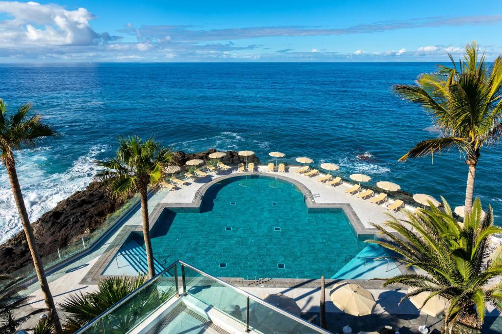 A view of the pool at Sol La Palma or nearby