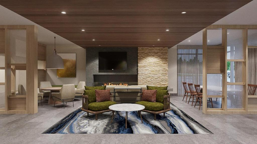 A seating area at Fairfield Inn & Suites by Marriott Oklahoma City El Reno