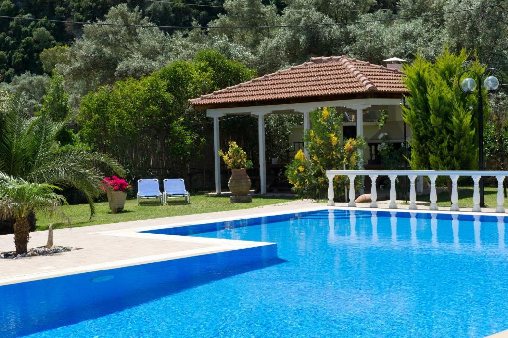The swimming pool at or near Villa Dimitris Apartments & Bungalows